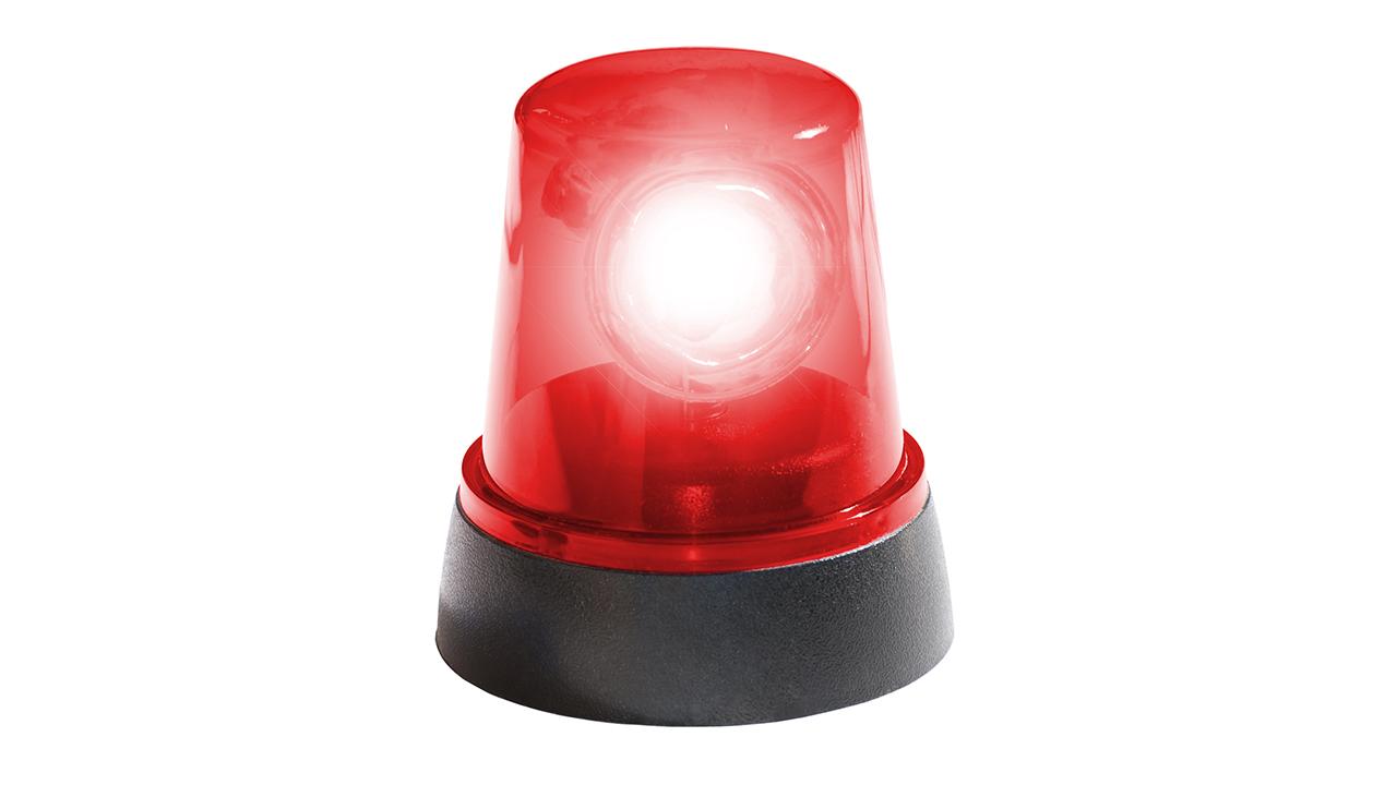 Red siren.